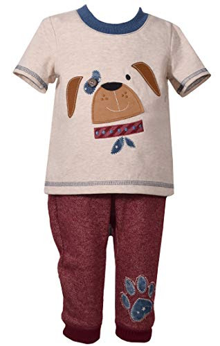 Bonnie Jean Matt's Scooter Boys Fall Puppy Outfit (0m-4t) (4t) Burgandy]()