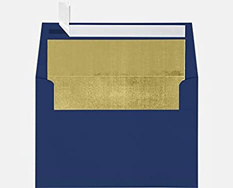 amazon com a7 foil lined invitation lined envelopes w peel press