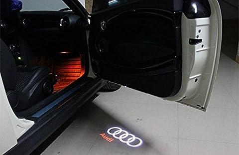2 LED Logo Light Shadow Projector Car Door Courtesy Audi A6 S6 A7 S7 A8 S8 Q3 - Audi A6 Light