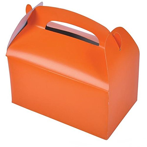 Orange Party Treat Boxes (Pack of 12)