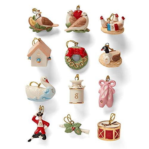 (Twelve Days of Christmas 12-pc Ornament Set by Lenox)