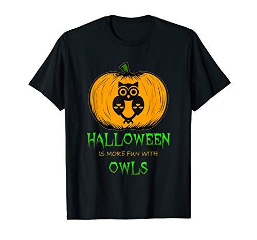 Owl Face Pumpkin Carving Halloween Clip Art Design T-Shirt -