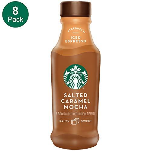 Starbucks, Iced Latte, Salted Caramel Mocha, 14 Fl Oz (Pack of 8)