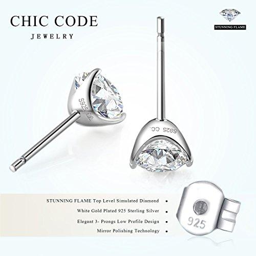 Earrings white silver