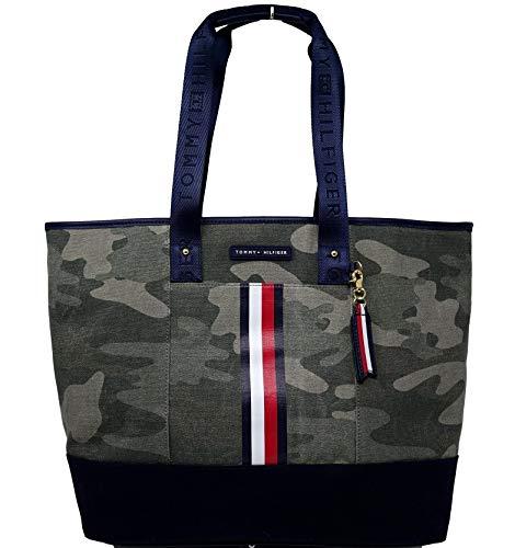 Tommy Hilfiger Purse Handbag Canvas Tote Camouflage