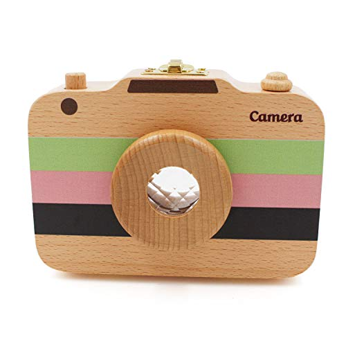YOCEAN Wood Baby Tooth Keepsake Box,Camera Shaped,Unique Baby Gifts