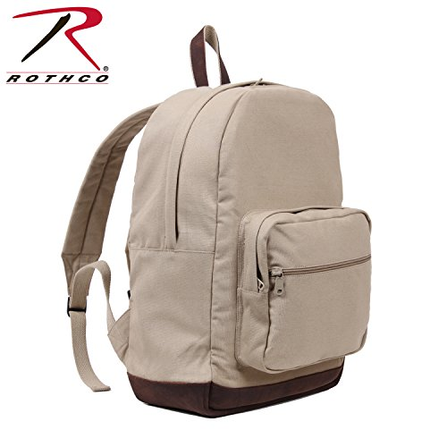 Canvas Teardrop Pack - Rothco Canvas Teardrop Pack - Khaki W/Leather Accent