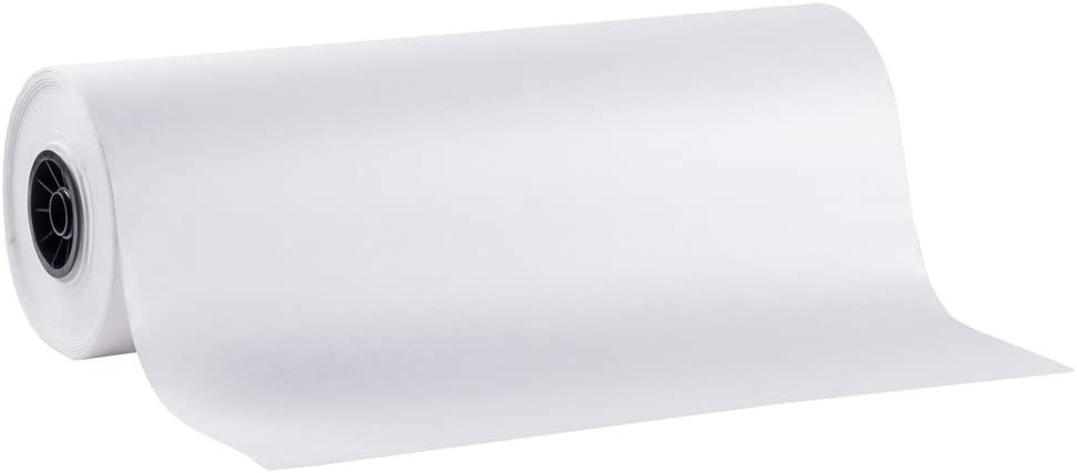 SAFEPRO FP18, 18-Inch White Freezer Butcher Food Paper Roll, Wrapping Disposable Steak Meat Paper, 1000-Feet Roll