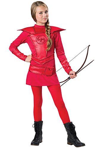 InCharacter Costumes Red Warrior Huntress Costume, One Color, Large