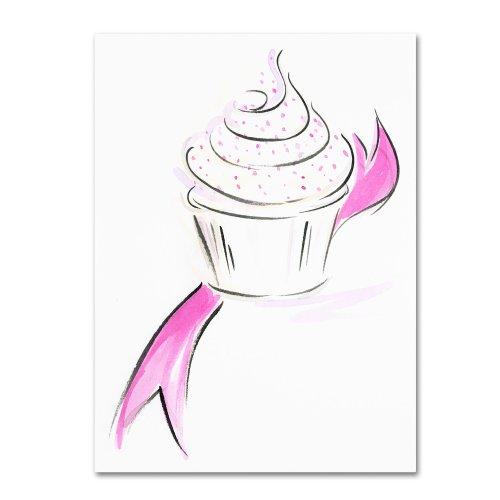 Cupcake 1 by Jennifer Lilya, 18x24-Inch Canvas Wall Art