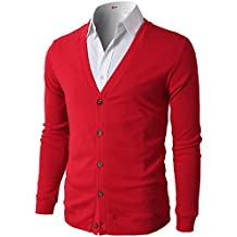 H2H Mens Casual Slim Fit Basic Designed Long Sleeve Button Down V-Neck Cardigan