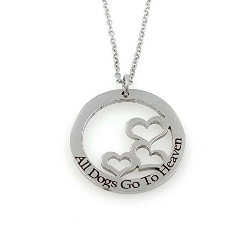 All Dogs Go To Heaven Engraved Pet Remembrance Personalized Memorial Necklace - Rainbow Bridge
