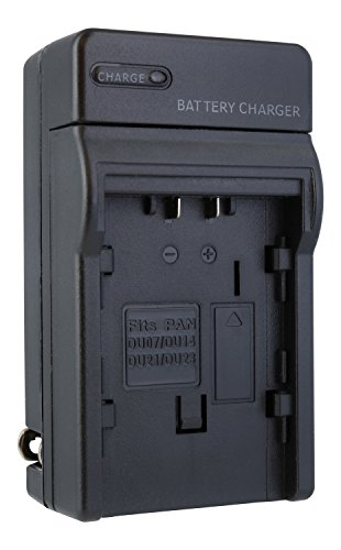 Price comparison product image TechFuel Battery Charger Kit for Panasonic SDR-H40P/PC Camcorder - For Home, Car and Travel Use