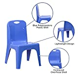 Flash Furniture Blue Plastic Stackable School Chair