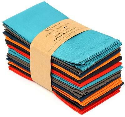 Ruvanti Multi Color Cloth Napkins 6 Pack (18