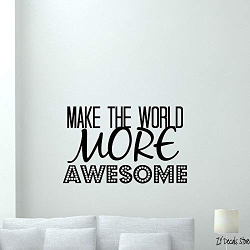 supmsds Make The World Awesome Wall Decal Vinyl Sticker ...