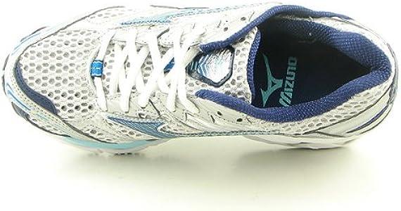 Mizuno Wave Nirvana 5 Zapatilla de Running Estabilidad para Mujer, Silver-AngelBlue: Amazon.es: Deportes y aire libre