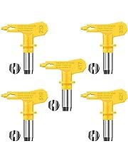5 stycken reversibel Airless Spray Tips Airless Paint Spray Tips Airless Sprayer munstycke Sprutmaskindelar för hus