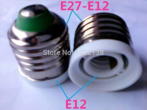 Halica 50pcs pandent lamp adapter E27 to E12 LED screw Socket adapter table lamp holder chandelier lamp base E27-E12 Converter socket