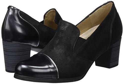 Cerrada Con Negro Piesanto De black Zapatos 02 Punta Para 175420 Mujer Tacón 4HHYqxwFnC