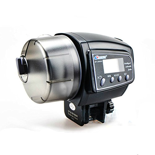 SportsMax Digital LCD Timer Automatic Fish Feeder Aquarium Tank Pond (Large, 2005D) ()