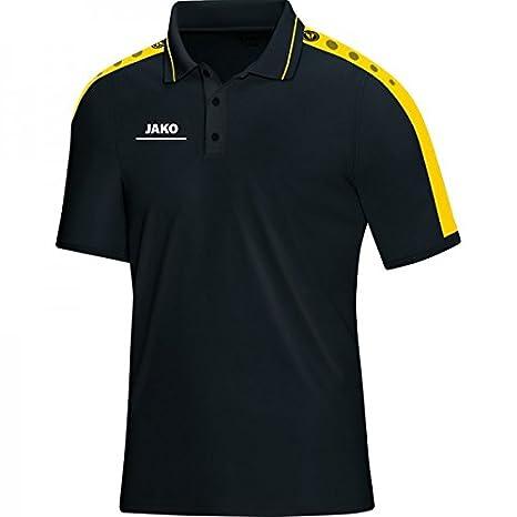 JAKO Polo Punzón - negro/limón, 38-40: Amazon.es: Deportes y aire ...