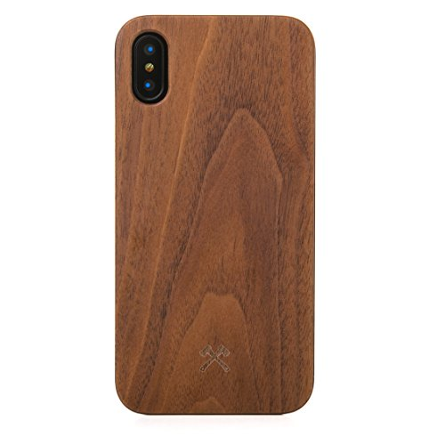 (Woodcessories - EcoCase Classic - iPhone Xs Max Wooden Case, Cover, Protection of Real, FSC cert. Wood, Premium, Design (Walnut/Black))