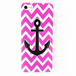 JJEPunk Stripes Anchor Pattern Plastic Hard Case for iPhone 5/5S