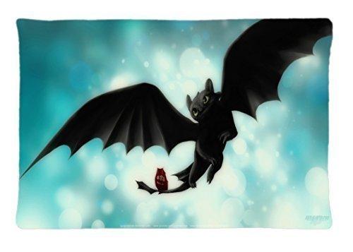Custom Toothless cómo entrenar a tu dragón funda de almohada ...