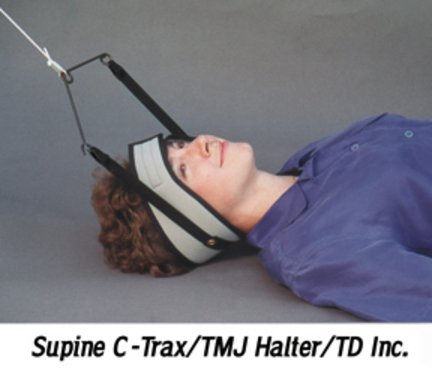 (C-Trax Supine Traction with TMJ Halter)