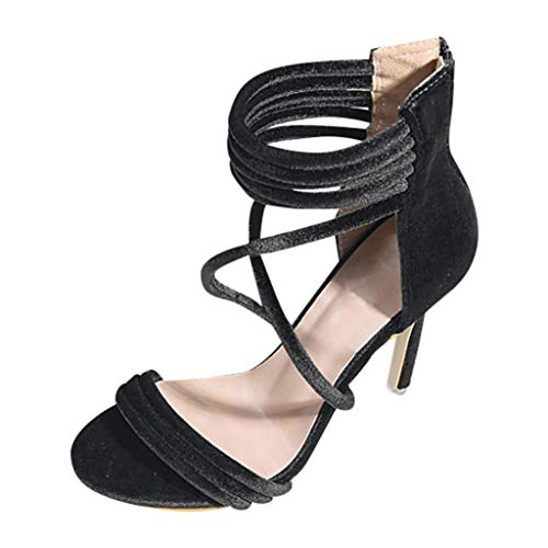 sweetnice Women Shoes Womens Strappy Open Toe High Chunky Heel - Sexy Stacked Heel Sandal - Dresses Sandals Shoe -