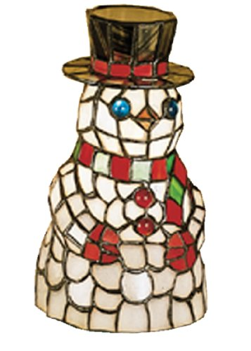 Snowman Tiffany Glass Accent Table Lamp - Meyda Tiffany Stained Glass Floor Lamp