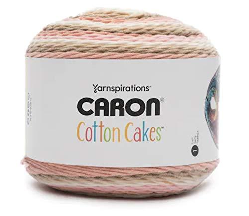 Caron Cotton Cakes Self Striping Yarn 530 yd/485 m 8.8 oz/250 g (Blush & ()