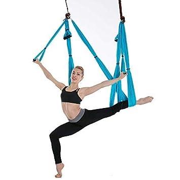 Amazon.com: CHSSC 6 Hand Aerial Yoga Hammock, Yoga Studio ...