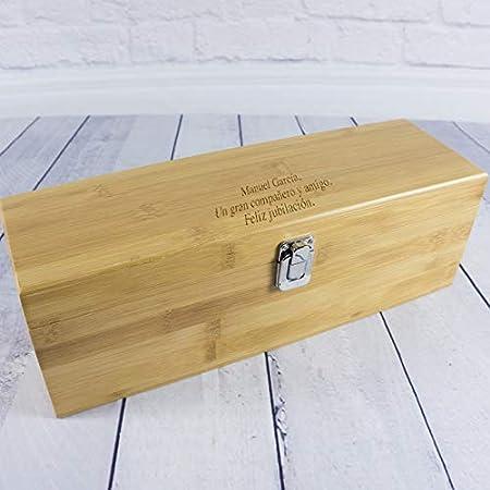 Calledelregalo Regalo Personalizado: Caja 'Sumiller' con Todos los Accesorios necesarios para degustar un Buen Vino