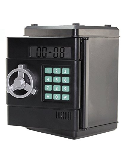 Digital 6 Digit Number Combination Money Box, Automatic Counting,Clock [Euro Version]