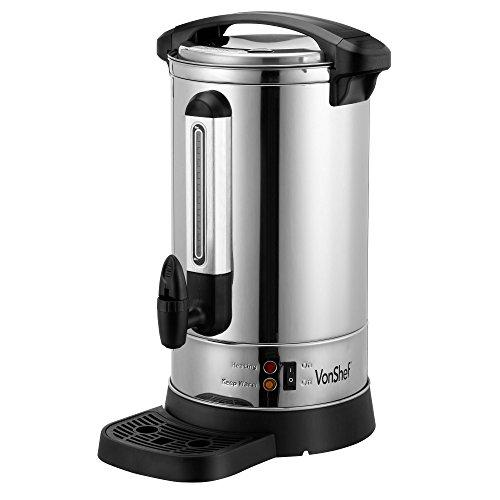 VonShef Catering Urn - Hot Water Dispenser - 8L/13L/20L - Stainless Steel -...