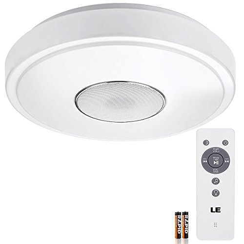 LE 24W Dimmable 15-Inch LED Music Ceiling Lights with Blueto