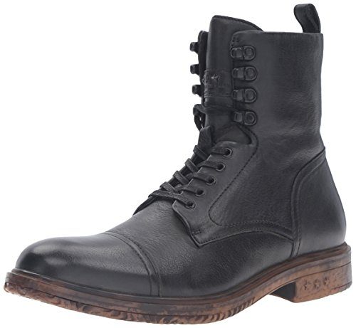 John Varvatos Men's Harden Combat Boot, Mineral Black, 10.5 M US