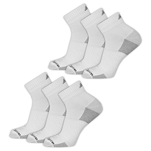 New Balance Men's Fitness Basics Ankle Socks (6 Pair), White, Size 9-12.5/Large