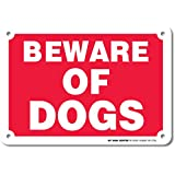 "Beware of Dogs Laminated Sign - 7""x10"" .040 Rust Free Aluminum - Made in USA - UV Protected and Weatherproof"