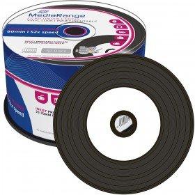 MediaRange MR226 CD-R Rohlinge (bedruckbar, 52x High-Speed, 700MB/80 min., Vinyl 50-er spindle)
