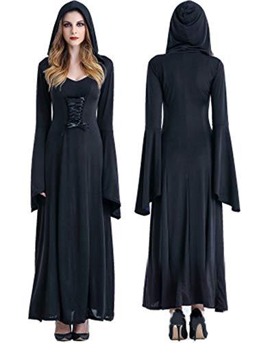 Black Corte 6 Donne Costume Hallowen Vestiti 8 Halloween Size Copricapo Vampiro Sorliva Con Purple Strega tIt6qwO