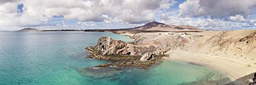 - Cliffs on The Beach, Papagayo Beach, Lanzarote, Canary Islands, Spain by Panoramic Images Art Print, 33 x 11 inches