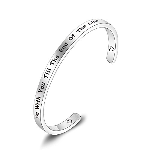 PLITI Lovers Jewelry I Am with You Till The End of The Line Bracelet for Her (Till The End)