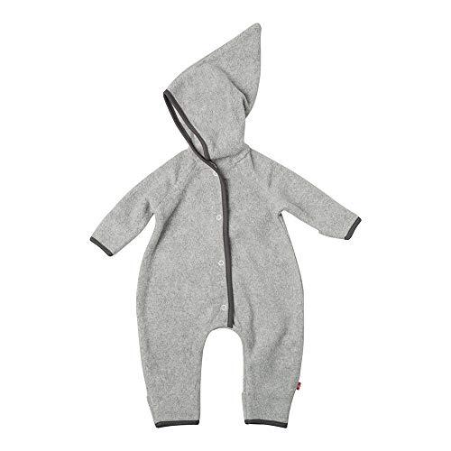 (Zutano Baby Cozie Fleece Elf Romper, Heather Gray 3M)