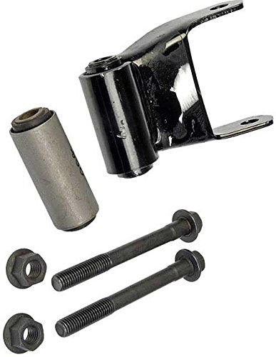 APDTY 833115 Leaf Spring Shackle Bracket Mount With Bolts & Bushing(s) E0TZ5776A (4-Wheel Drive Models Only)(Rear Left Or Right Of Rear Leaf - Super Rear Shackles