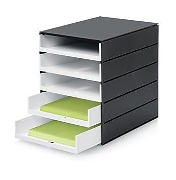 Schubladenbox Styroval Pro 243 mit 10 Schubladen Farbe Wei/ß Schwarz