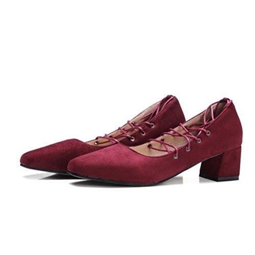 MZG Sandalias femeninas en la cabeza cuadrada con grueso y Zapatos de mujer 1