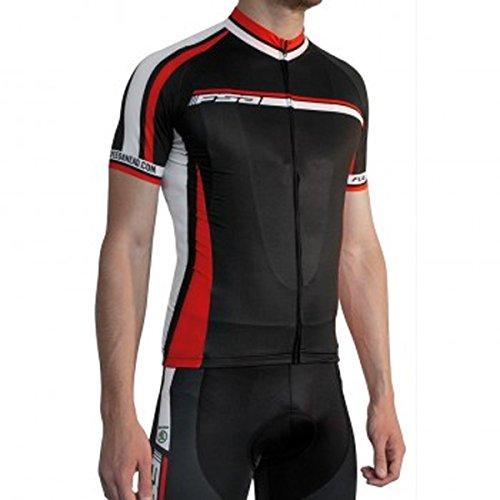aae1bc5e8623c Full Speed Ahead FSA Men s Nalini Profit Short Sleeve Cycling Jersey -  CL-Jersey (Black White Red - XXL)